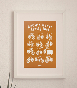 Auf die Räder fertig los - Poster A4 - päfjes