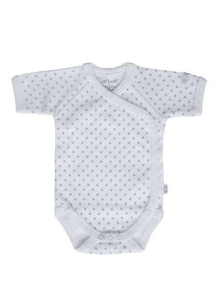 Baby Kurzarm Wickelbody Weiß Bio Baumwolle