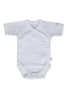 Baby Kurzarm Wickelbody weiß Bio Baumwolle - EBi & EBi