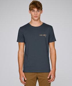 T-Shirt mit Motiv / Wellenlänge golden - Kultgut