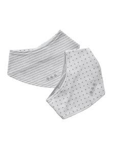 Baby 2er-Pack Halstuch weiß grau Bio Baumwolle - EBi & EBi
