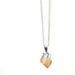 Yellow Stone - Halskette mit rauem Zitrin - Crystal and Sage