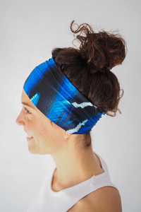 Recycelt Yoga Stirnband / Workout Headband / ELECTRIC BIRD - Arctic Flamingo