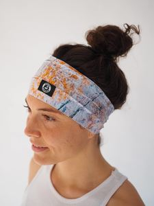 Recycelt Yoga Stirnband / Workout Headband / HAPPY LAKE - Arctic Flamingo