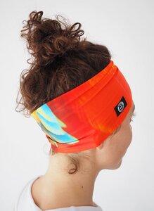 Oranges Breites, Dünnes Stirnband / Workout Headband / PAPAGEI - Arctic Flamingo