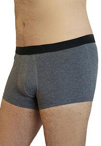 Herren Trunk Shorts 3 Farben Bio-Baumwolle Unterhose blau-lila melange - Albero