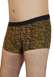 5er Pack Herren Trunk Shorts 2  Farben Bio-Baumwolle Pants zebra - Albero