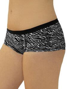 4er Pack Damen Boyshort Panty Bio-Baumwolle Slip Pants zebra - Albero
