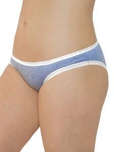 3 er Pack Damen Slip mit Spitze Bio-Baumwolle Bikinislip 5 Farben - Albero