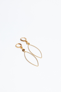 "Ohrhänger ""SIMPLE"" in Gold - ALMA -Faire Streetwear & Schmuck-"
