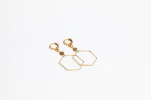 "Ohrhänger ""SIMPLE"" in Gold - ALMA -Faire Streetwear & Schmuck-"