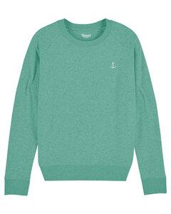 Hanseat Damen Sweatshirt meliert mit Anker Stick - Hanseat