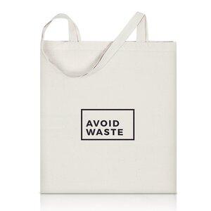 Nachhaltiger Jutebeutel von avoid waste mit langen Henkeln - avoid waste