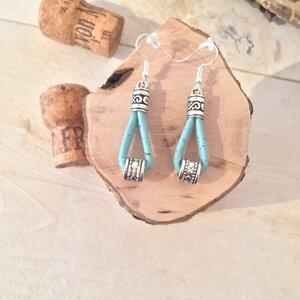 Korkohrhänger Ohrring aus Kork Bunt  - Living in Kork