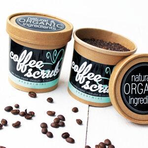 Coffee Body Scrub - Kaffeepeeling - Peppermint - Eve Butterfly Soaps