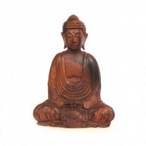 Dhyana Buddha Mahagoni 20 cm - Just Be