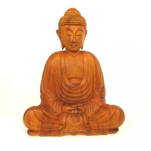 Dhyana Buddha Teakholz 26 cm - Just Be