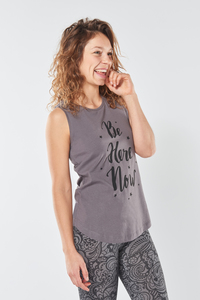 Yoga Tank Top Be Here Now - Urban Goddess