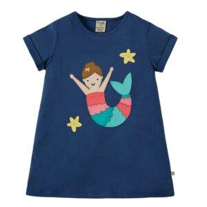Slub T-Shirt Meerjungfrau blau - Frugi