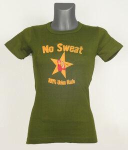 No Sweat Gold Star T-Shirt Woman - No Sweat