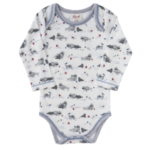 Langarmbody - Robbe All-Over-Print - People Wear Organic