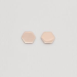 Ohrstecker 'shiny hexagon' - fejn jewelry