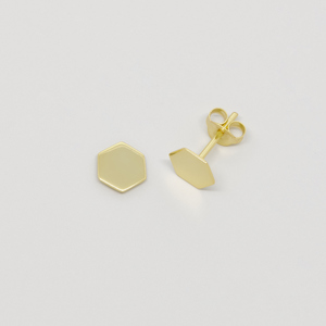 Ohrstecker 'shiny hexagon' - fejn jewelry