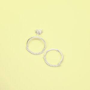 Ohrstecker 'circle chain' - fejn jewelry