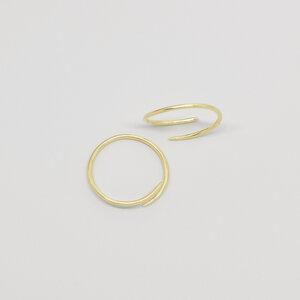 Creole 'dainty hoop'  - fejn jewelry