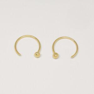 Creole 'open hoop'  - fejn jewelry