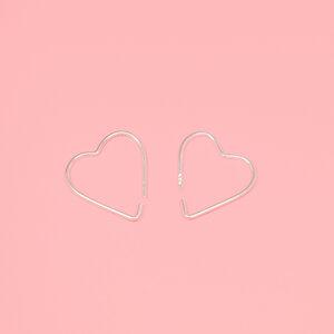 Creole 'heart hoop'  - fejn jewelry