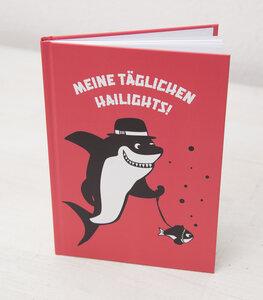 Meine täglichen Hailights! - Notizbuch A5 Hardcover 96 Seiten - Coral - päfjes