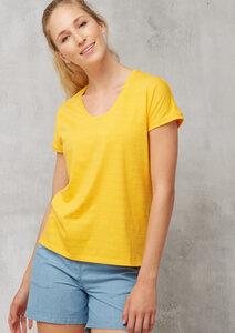 T-Shirt Casual V-Ausschnitt JAQUARD - recolution
