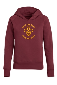 "Damen Hoodie aus Bio-Baumwolle ""Save the bees"" - University of Soul"