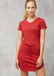 Jerseykleid Basic rot - recolution