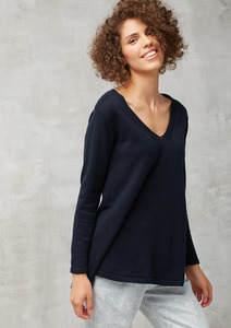 Strickpullover Tunic Knit blau - recolution