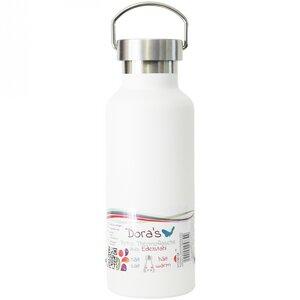 Dora's 0,5l Retro Thermosflasche mit Stahldeckel - verschiedene Farben - Dora