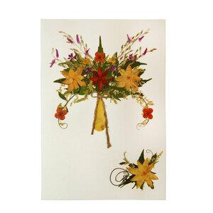 Grußkarte Wildblumen DAHLIA GELB - GLOBO Fair Trade