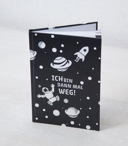 Ich bin dann mal weg! - Notizbuch A5 Hardcover 96 Seiten - Black - päfjes