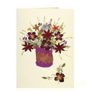 Grußkarte Wildblumen WIESENSTRAUSS - GLOBO Fair Trade