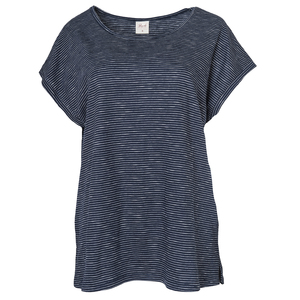 Oversize T-Shirt - blau geringelt - People Wear Organic