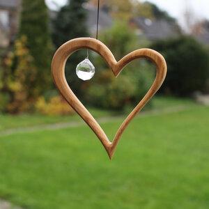 Fensterdeko - Herz mit Kristall - Mitienda Shop