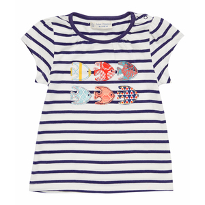 Shirt geringelt mit Fischen - Sense Organics & friends in cooperation with GARY MASH