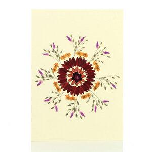 Grußkarte Wildblumen FEUERWERK - GLOBO Fair Trade