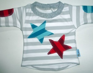 Babyshirt Stripes and Stars - Omilich