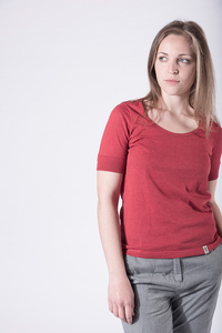 """Bio-Baumwoll-T-Shirt """"Paulette"""" - Grenz/gang"""