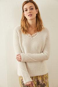 556834d70a05f8 Pullover mit V-Ausschnitt aus Bio-Baumwolle GOTS - LANIUS