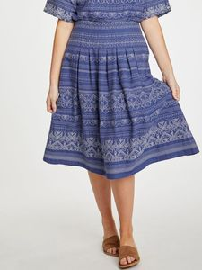 Rock - Jacqualine Skirt – Blau - Thought