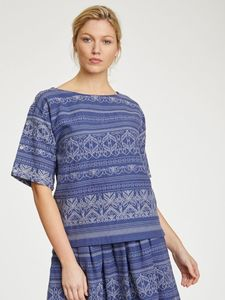 Top - Jacqualine Top - Blau - Thought