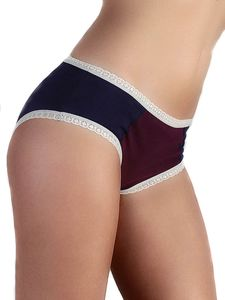 3 er Pack Damen Hipster Slip Spitze 5 Farben Bio-Baumwolle Hotpants  - Albero